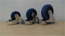 גלגלים גומי כחול + מעצור